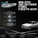 BALATA DELANTERA FORD FIESTA IKON 1.6L