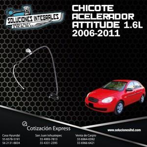 CHICOTE ACELERADOR ATTITUDE 1.4L, 1.6L 06-11