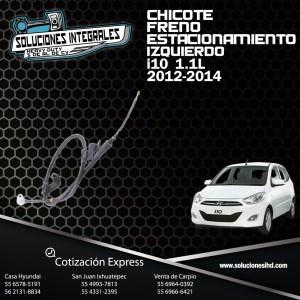 CHICOTE FRENO ESTACIONAMIENTO IZQUIERDO I10 1.1L 12-14