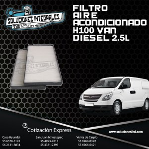 FILTRO AIRE ACONDICIONADO H100 VAN DIESEL  2.5L