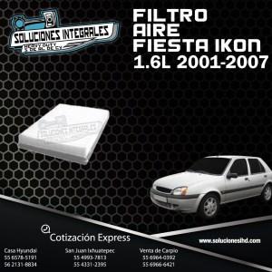FILTRO AIRE FIESTA IKON 1.6L 01/07