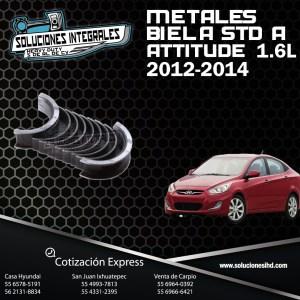 METALES BIELA STD  A ATTITUDE 1.6L 12-14