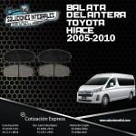 BALATA DELANTERA HIACE 05-10