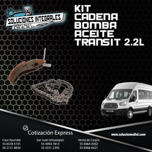 KIT CADENA BOMBA ACEITE TRANSIT 2.2L