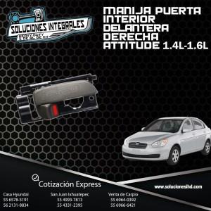 MANIJA PUERTA INTERIOR DEL. DERECHA ATTITUDE 1.4L-1.6L