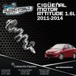 CIGÜEÑAL  MOTOR ATTITUDE 1.6L 11-14