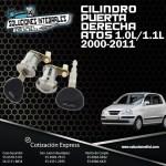 CILINDRO PUERTA DER. ATOS 1.0L 1.1L 00/11