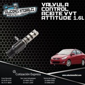 VALVULA CONTROL ACEITE ATTITUDE 1.6L