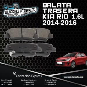BALATA TRASERA KIA RIO 1.6L 14/16