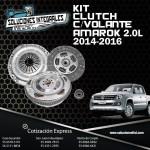 KIT CLUTCH C/VOLANTE AMAROK 2.0L 14/16