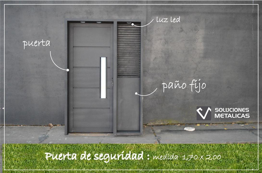 Puerta con paño fijo II