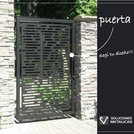 Puerta con diseño