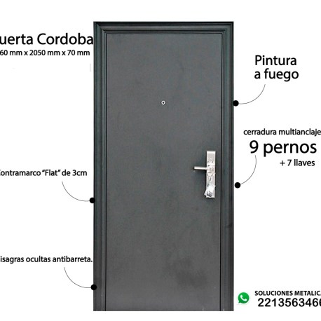 Puerta Cordoba negra