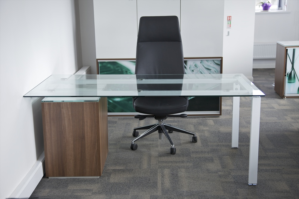 Glass Office Desks  Executive Glass Desks  Solutions 4