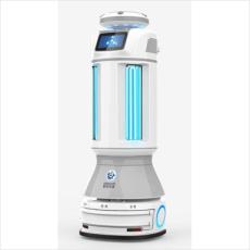Robot autonome mobile de stérilisation par UV et diffusion ultrasonique