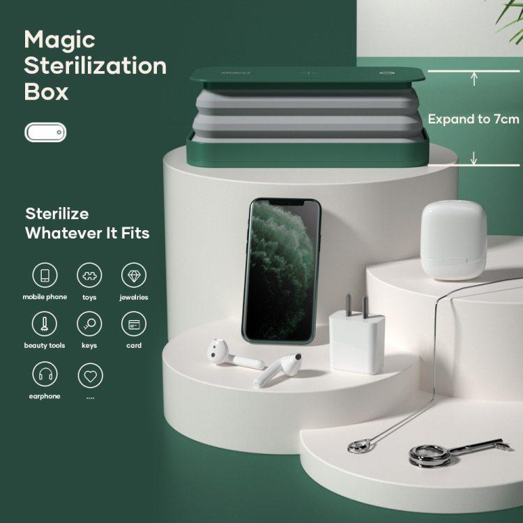 Rock space – boîte de stérilisation UVC, boîte de désinfection à lumière avec Charge sans fil, stérilisateur de téléphone Portable pour téléphone, verre de bijoux
