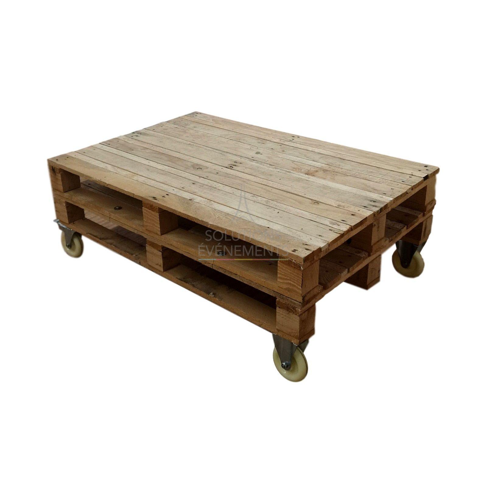 location table basse palette