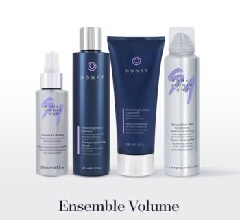 Ensemble Volume de Monat pour donner du volume cheveux fins et plats