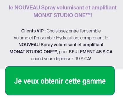 Spray Volumisant et Amplifiant Monat Studio One