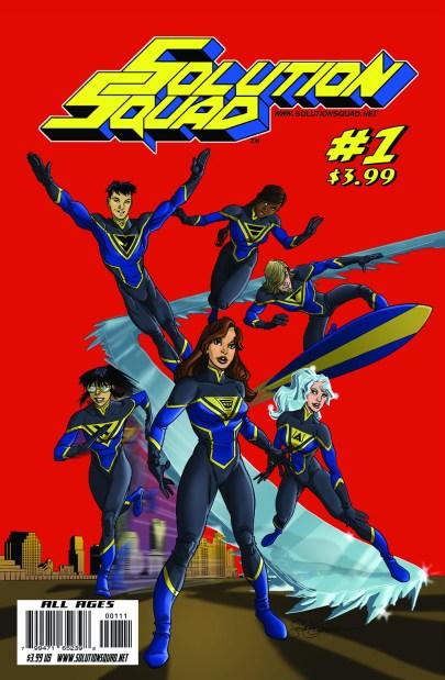 Steven Gordon's cover for Solution Squad #1