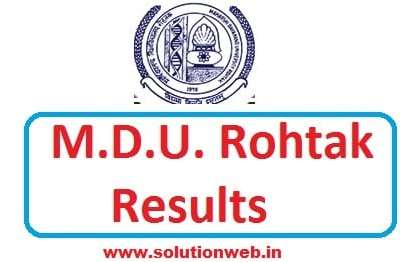 MDU B.Tech Result