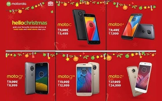 Motorola Hello Christmas sale: Moto Z2 Play at Rs 24,999, Moto M at Rs 13,999, Moto C at Rs 5,499 and other top offers