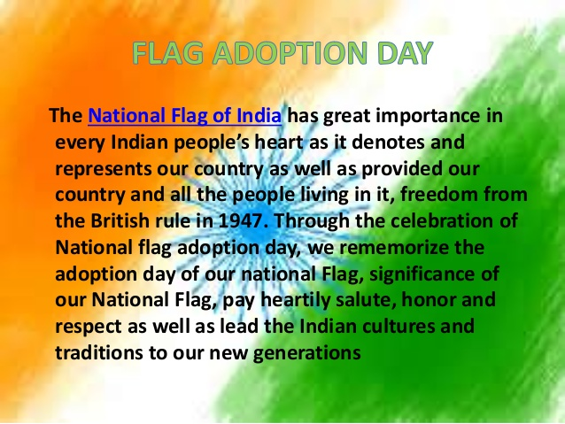 national flag adoption day