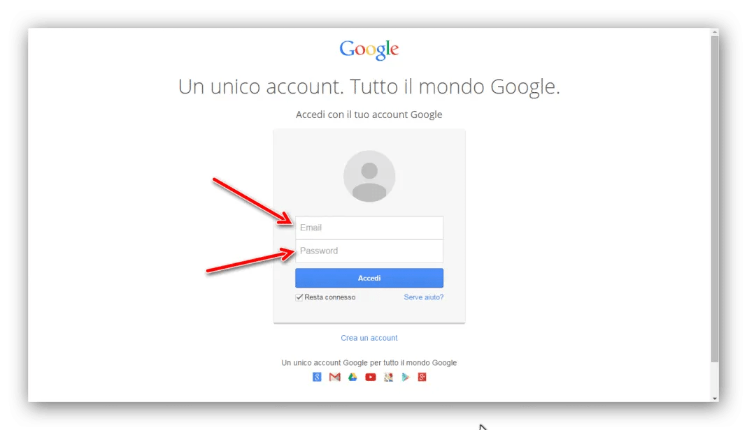 Accedere ai servizi Google senza digitare password ma
