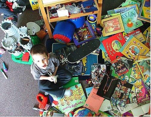 La camera dei bambini sempre in ordine