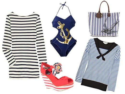 Outfit alla marinara indossa le righe