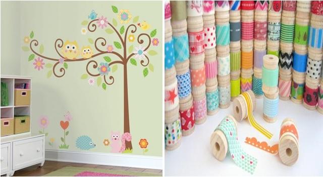 Pareti Con Fotografie : Come rinnovare le pareti con le strisce decorative
