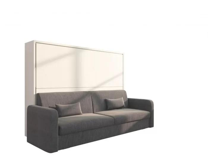 Piuma Sofa 140  Letto 2 piazze a scomparsa con divano contenitore