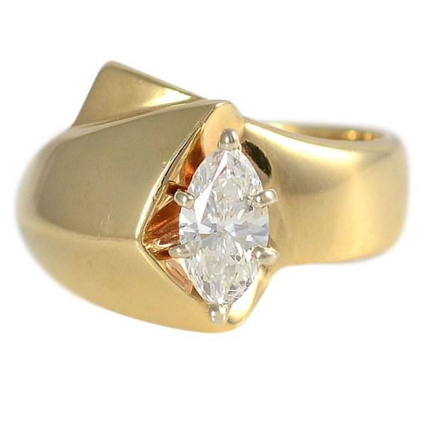 0.65 Carat Marquise Diamond Ring