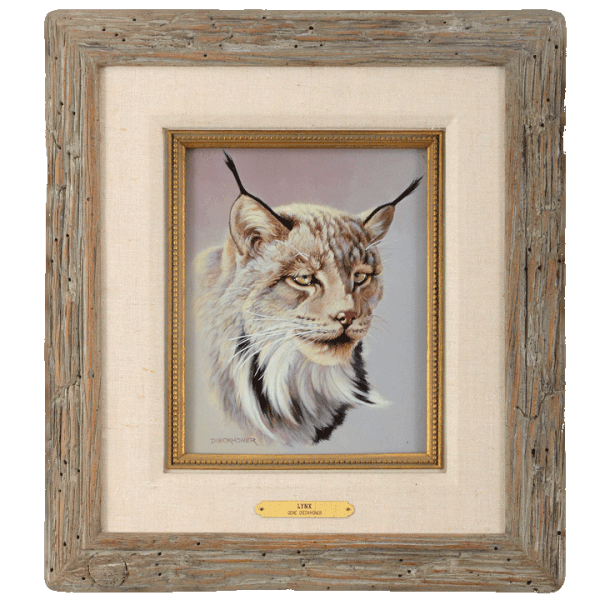 Oil on Panel Lynx by Gene Dieckhoner