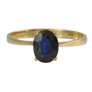 14K Yellow Gold Sapphire Ring