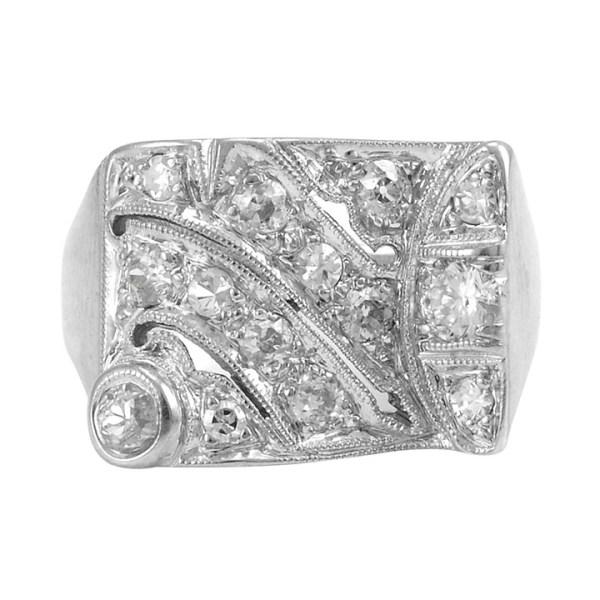 0.75 Carat Total Weight Diamond Cocktail Ring