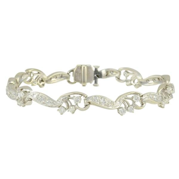 1.91 CTW Diamond Bracelet Marked Kahn