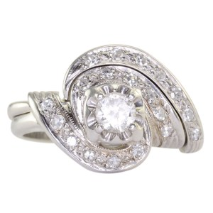 0.22 Carat Center Diamond Wedding Set