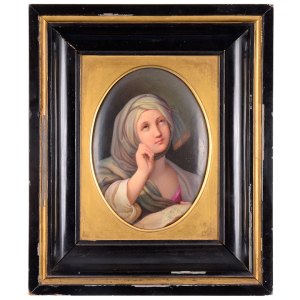 KPM Hand Painted Porcelain Portrait Signed by Artist