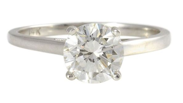 EGL Certified SI1 1.19 Carat Diamond Solitaire Ring