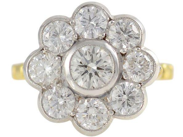 2.11 CTW Diamond 18 Karat Gold Ring