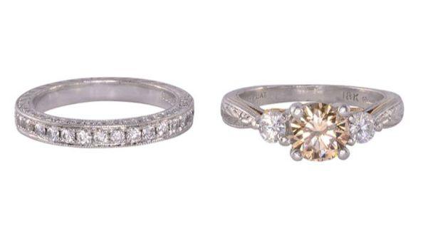 Fancy Center Diamond Engagement Set