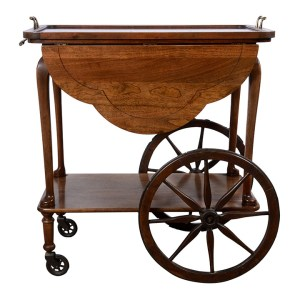 oak tea cart