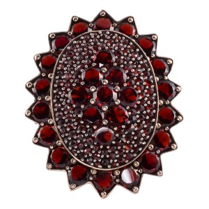 Garnet Cluster Ring