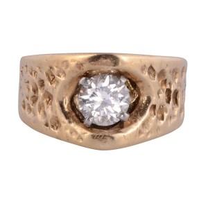 textured band diamond ring