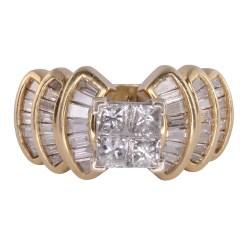 3.70 CTW Diamond Yellow Gold Ring