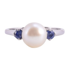 pearl sapphire ring
