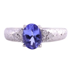 Oval Tanzanite White Gold Ring