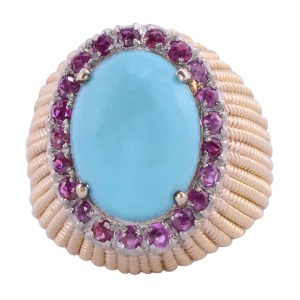 turquoise ruby ring