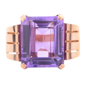 amethyst rose gold ring